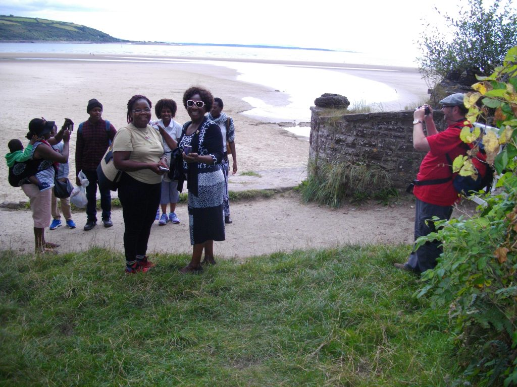 Down at Llansteffan beach on the Towy estuary.