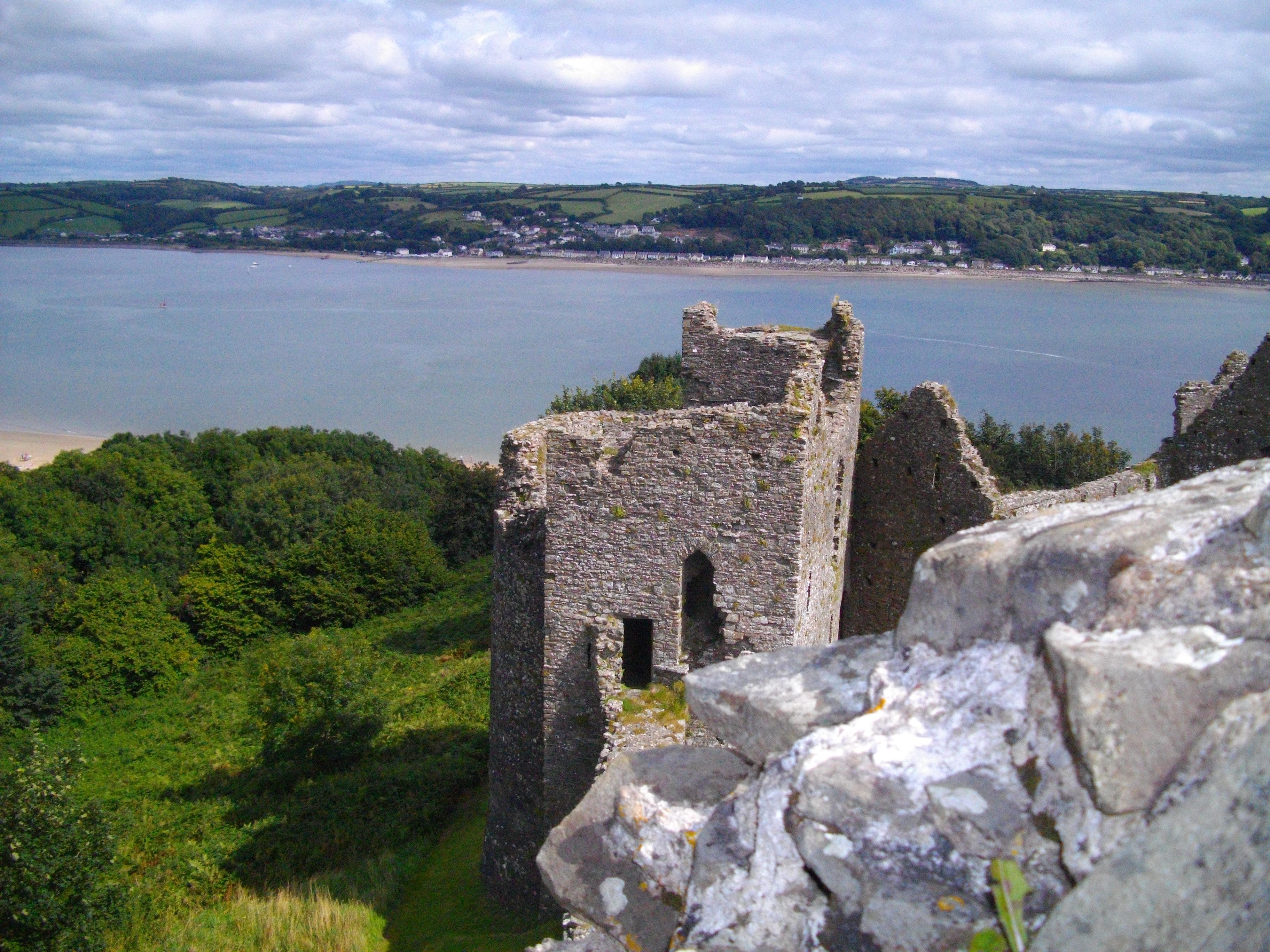 Llansteffan Castle. Well, part of it.