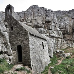 St Govan's Chapel dates from medieval times and is only accessible down a flight of stone steps.