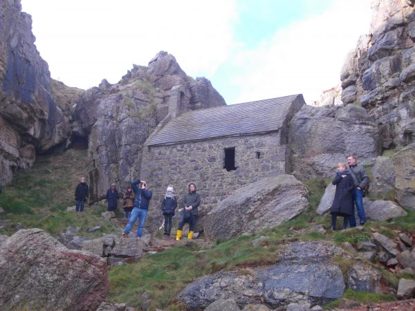 Outside St Govan's Chapel