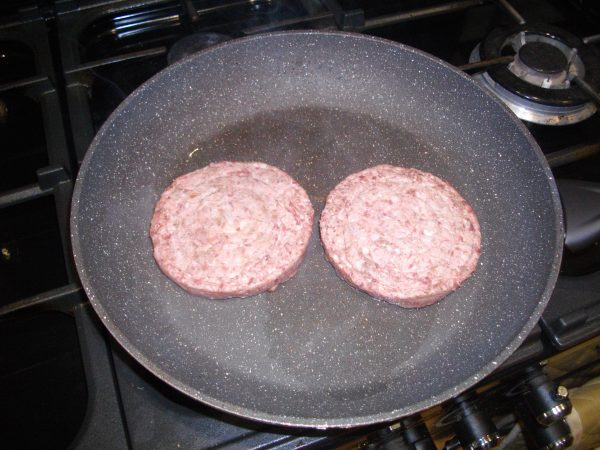 Mutton Burgers In Pan